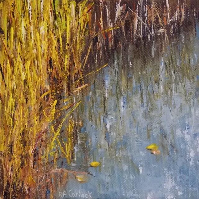"""Marsh Grasses"" original fine art by Ruth-Ann Carlock"