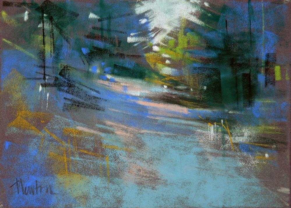 """Blue Road"" original fine art by Barbara Benedetti Newton"