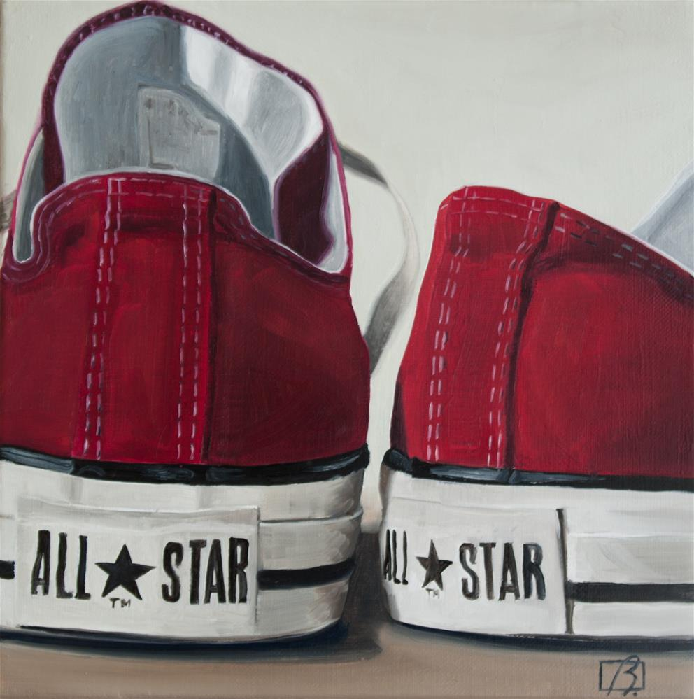 """Red Wine Converse"" original fine art by Andre Beaulieu"