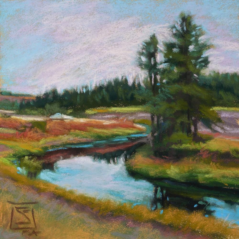 """The Riverkeepers"" original fine art by Sheila Evans"