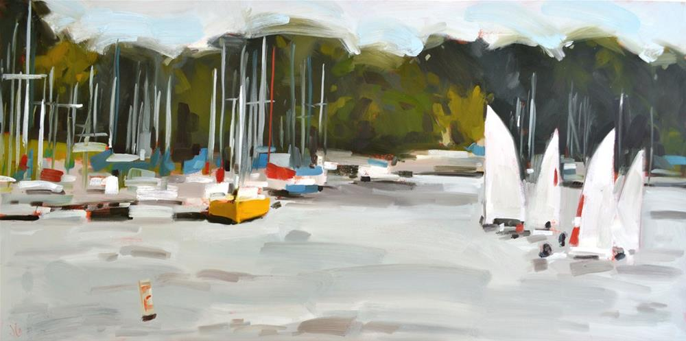 """Sailing Lessons"" original fine art by Jessica Green"