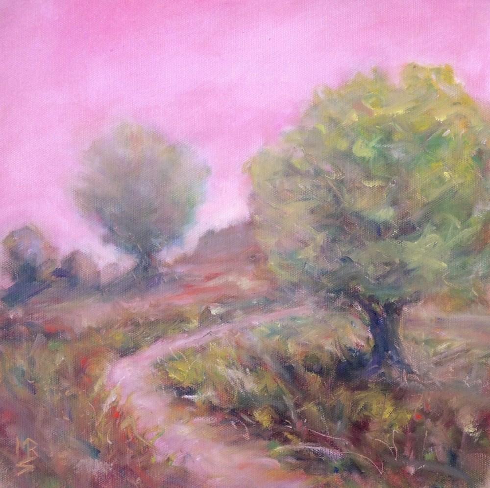 """Blushing Trail"" original fine art by Mary Schiros"