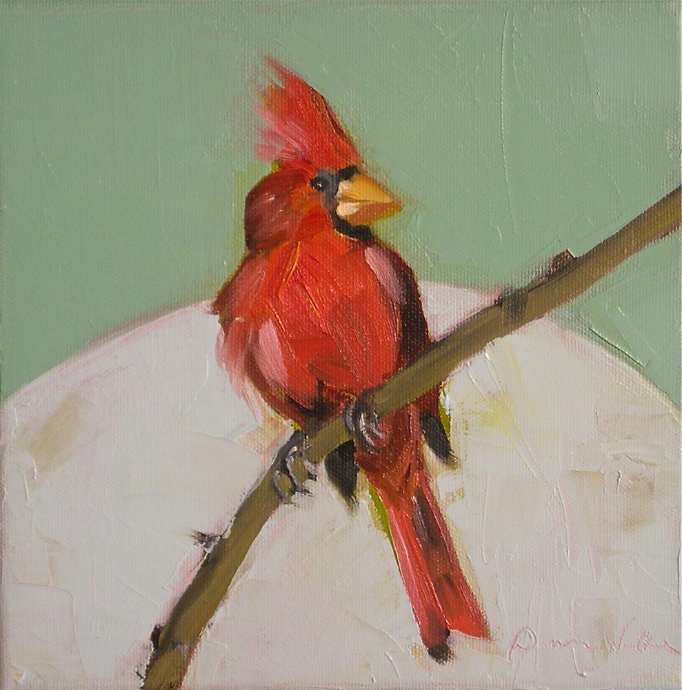 """Cardinal"" original fine art by Donna Walker"
