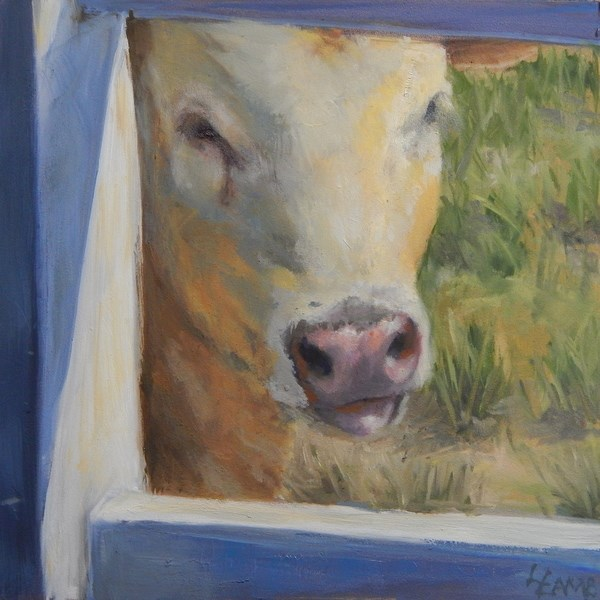 """Curious Calf"" original fine art by Lori L. Lamb"