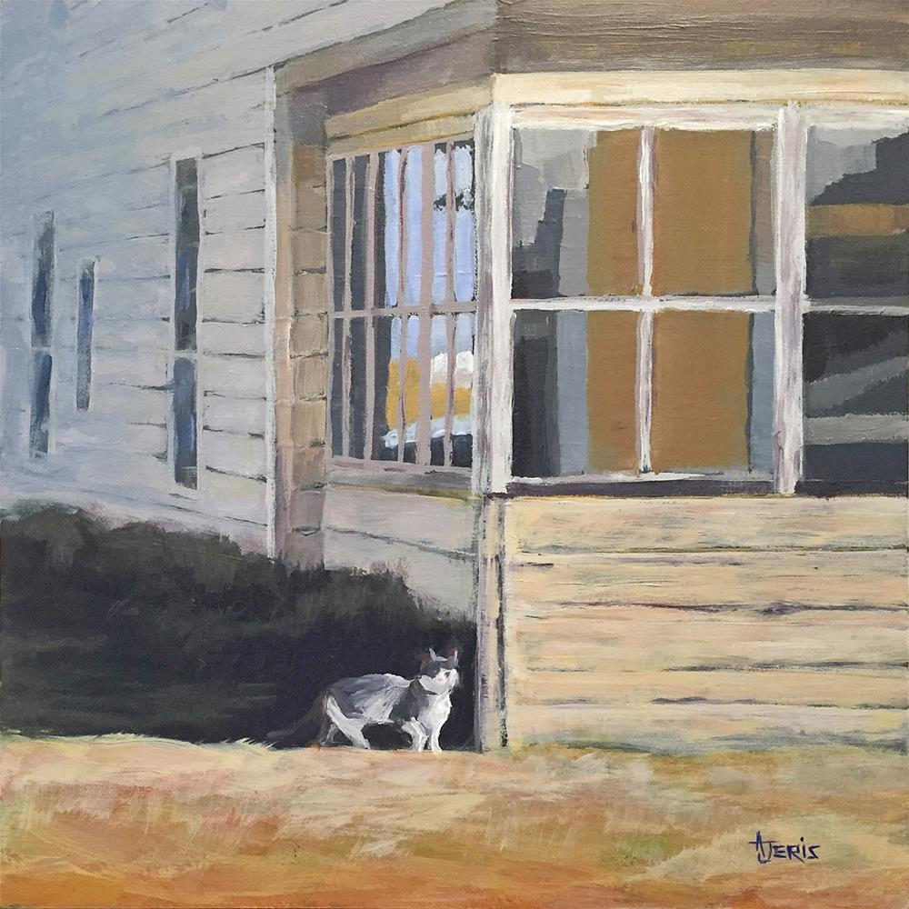 """Cat at the Old House"" original fine art by Andrea Jeris"
