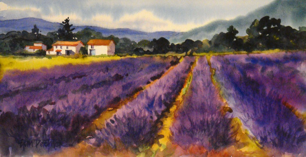 """Perfectly Purple"" original fine art by Erin Dertner"