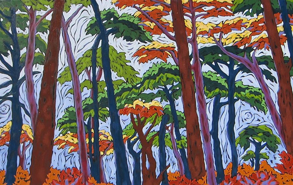 """Forest Walk"" original fine art by Monique Straub"