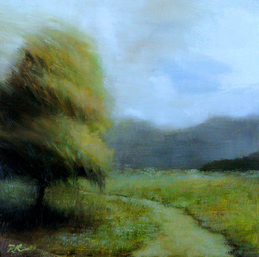 """The Path Around the Tree"" original fine art by Bob Kimball"