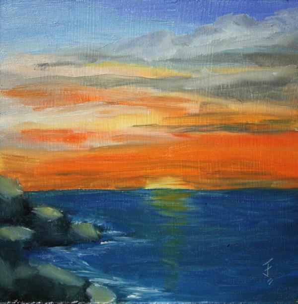 """Sunset Serenity"" original fine art by Jane Frederick"