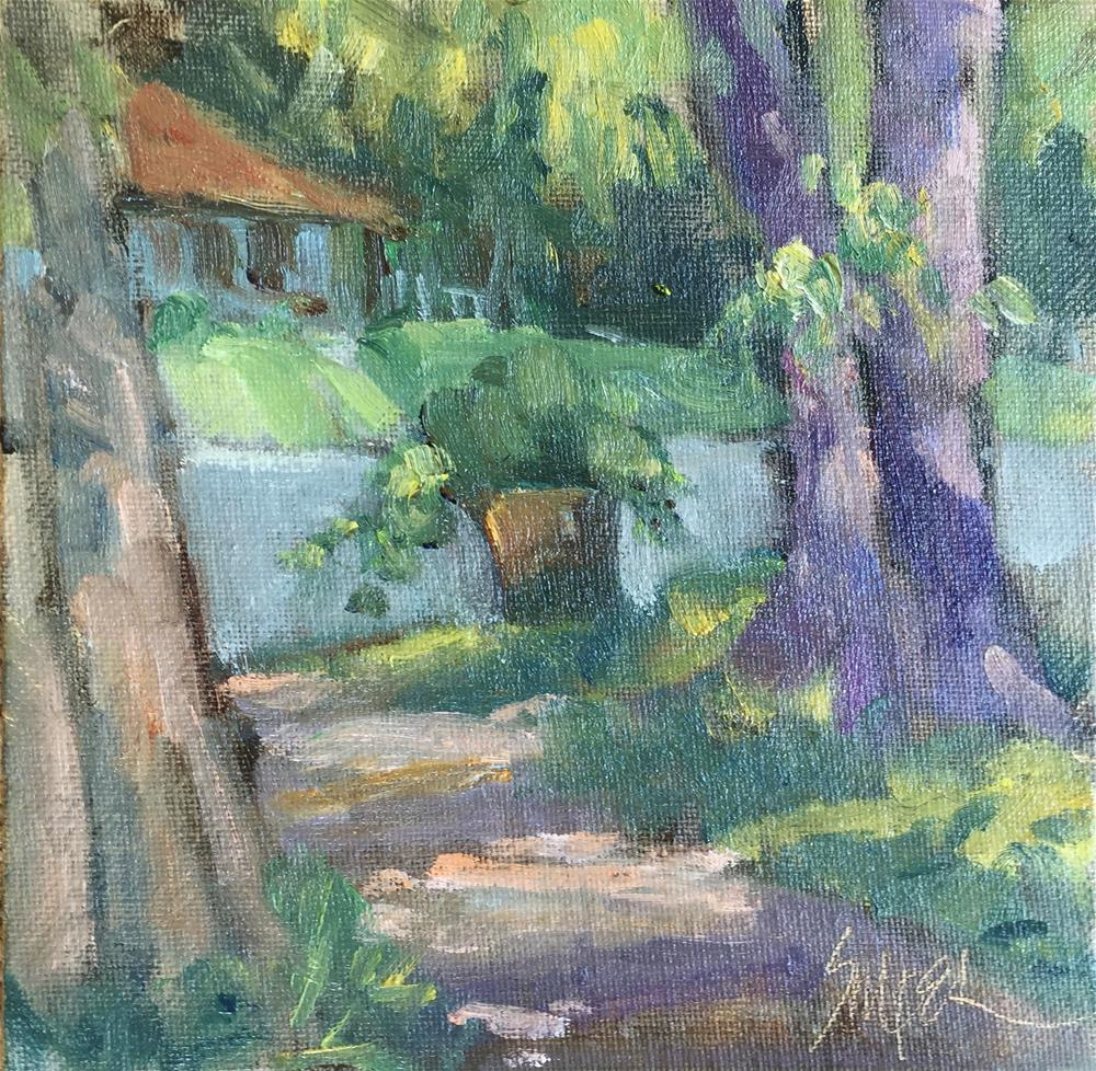 """End of the Driveway"" original fine art by Connie Snipes"