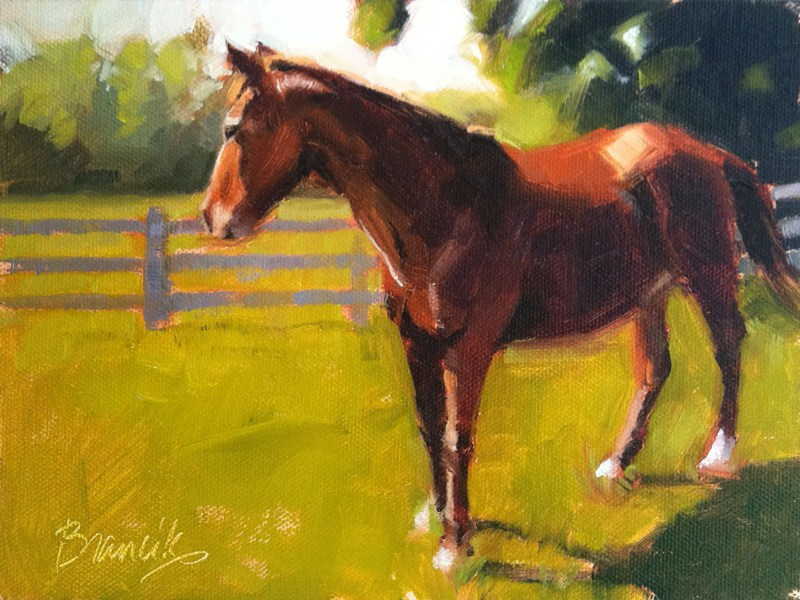 """Trusty Friend"" original fine art by Candace Brancik"