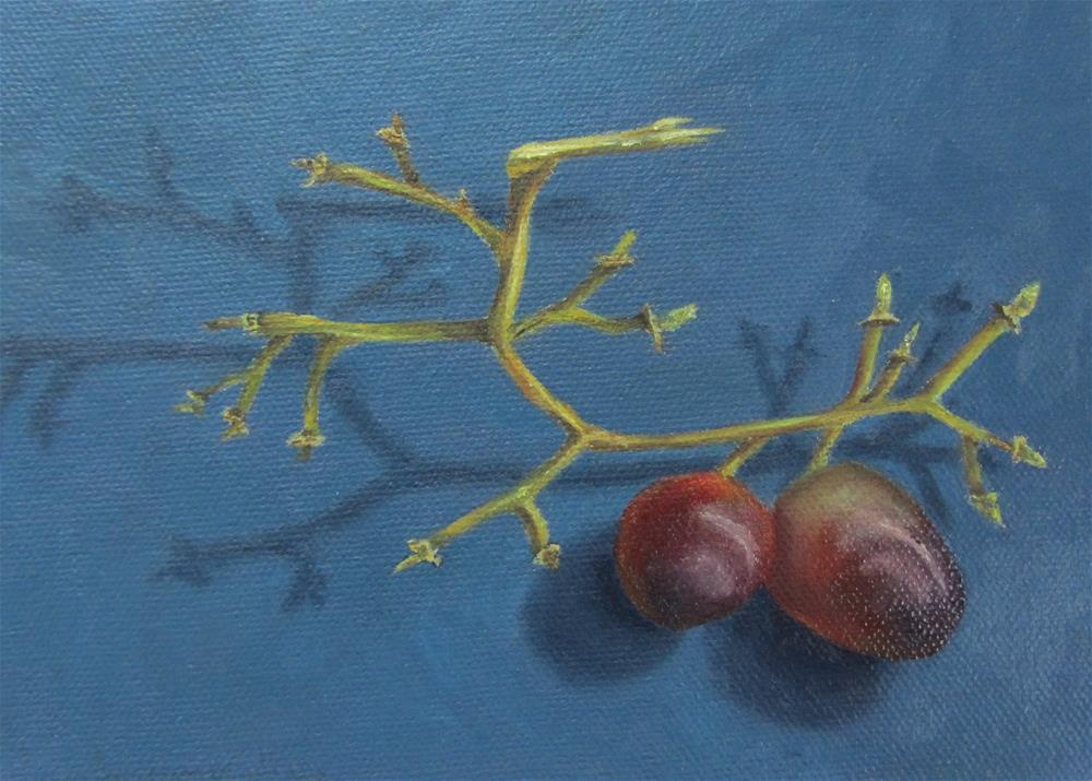 """Grapes"" original fine art by Karen Collins"