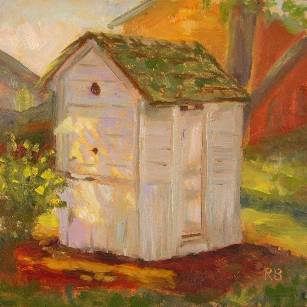 """The Outhouse"" original fine art by Robie Benve"