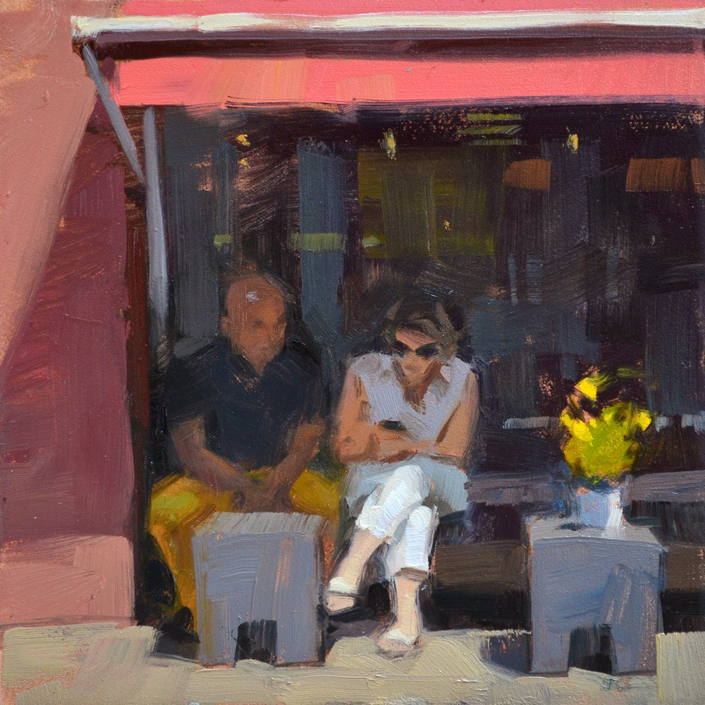 """A Google Break"" original fine art by Carol Marine"
