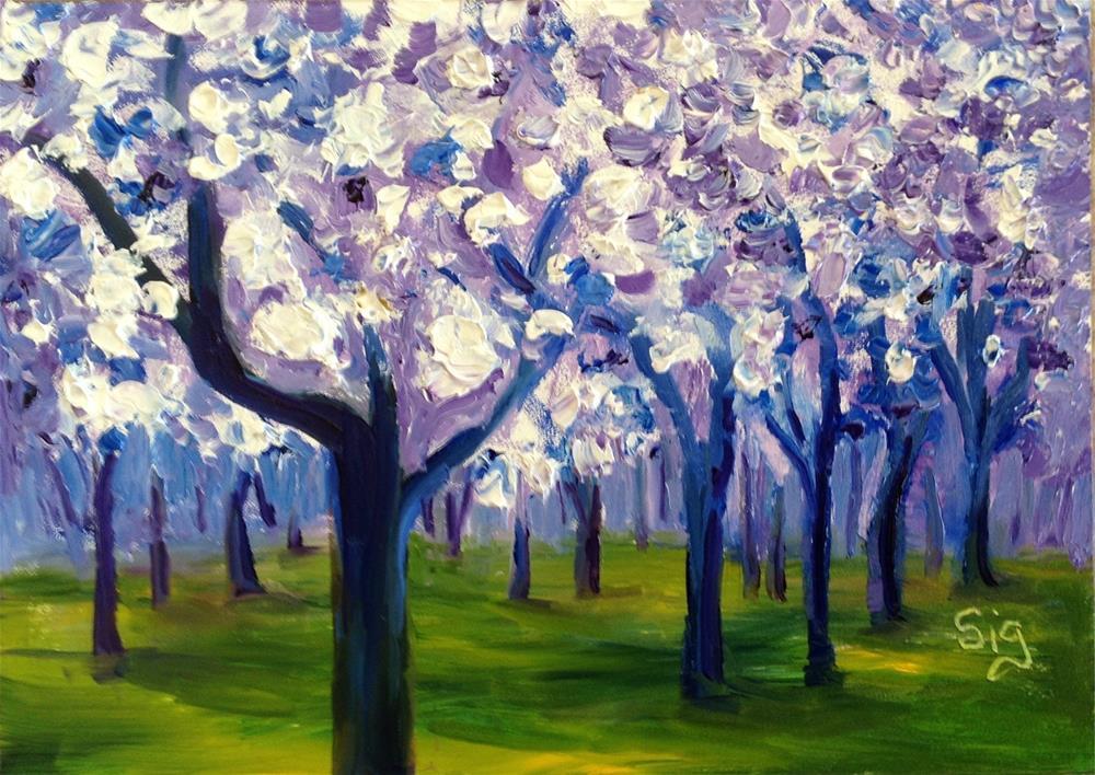 """""""Spring Fever"""" original fine art by Sigrid Victor"""