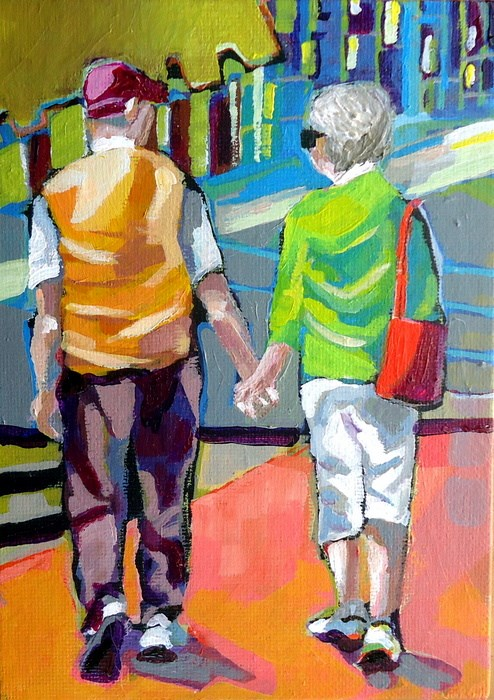 """Don't You Go"" original fine art by Laurie Mueller"