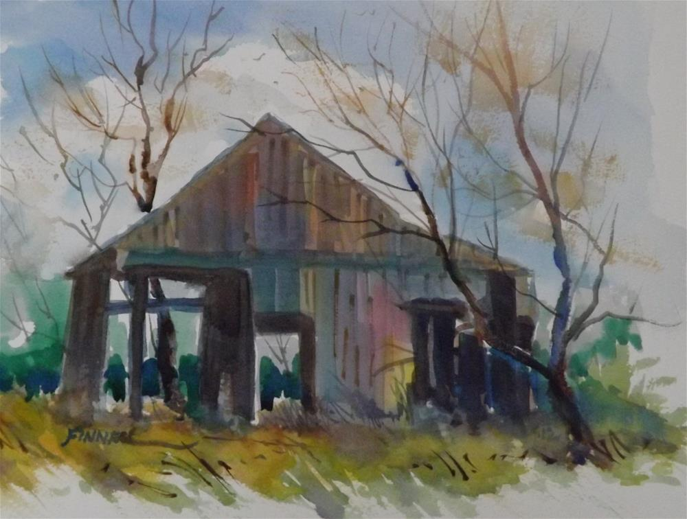 """Wooden Shack"" original fine art by David Finnell"