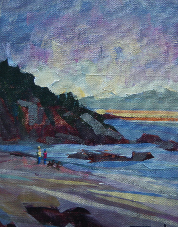 """Beach Walk"" original fine art by Brian Buckrell"