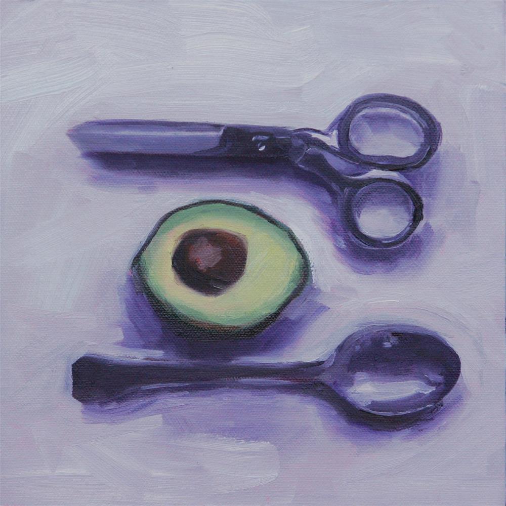 """Avocado Portrait II"" original fine art by Skye Coddington"