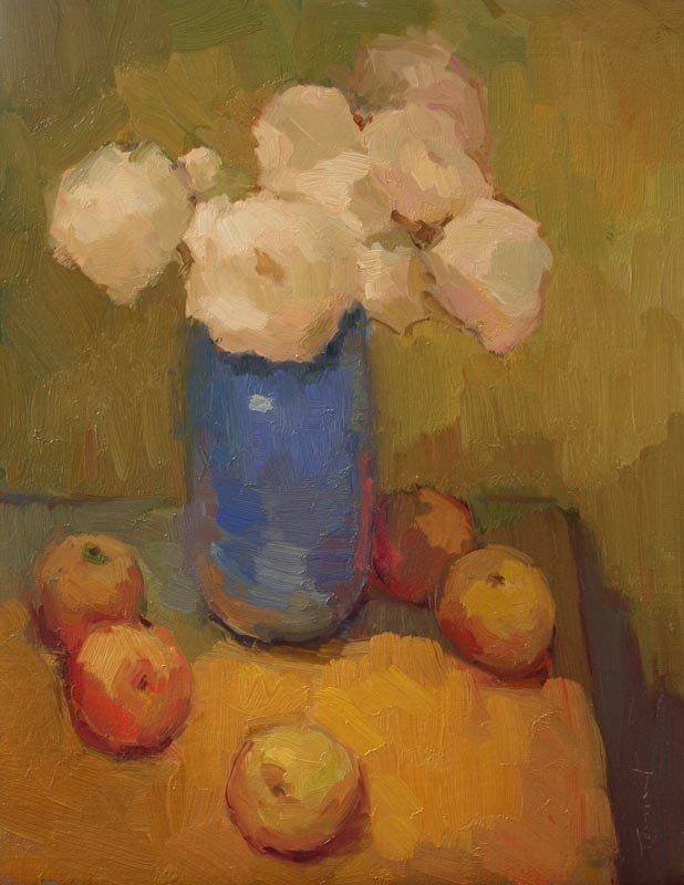 """Blue Vase"" original fine art by Kathryn Townsend"