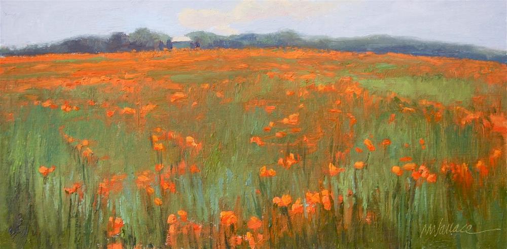 """#46 Poppy paradise"" original fine art by Nancy Wallace"