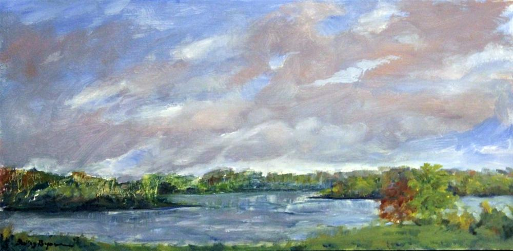 """Spring on Smith Mountain Lake"" original fine art by Shelley Koopmann"