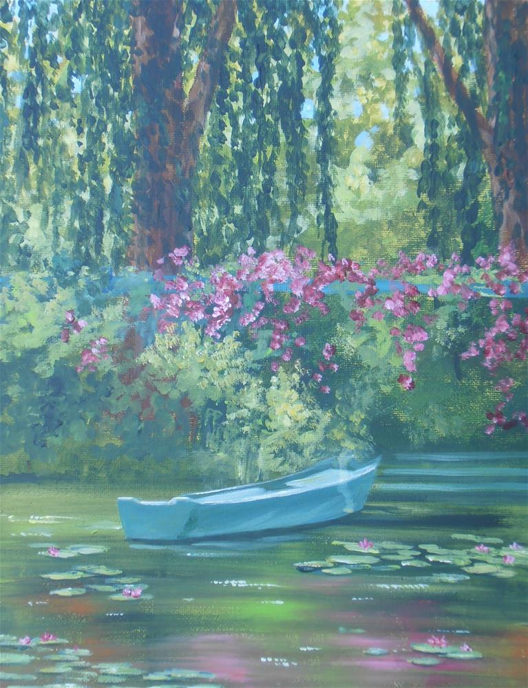 """Homage to Monet"" original fine art by Terri Nicholson"