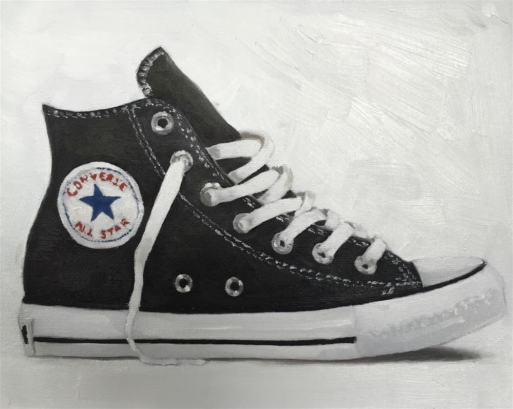 """Baseball Boot"" original fine art by James Coates"