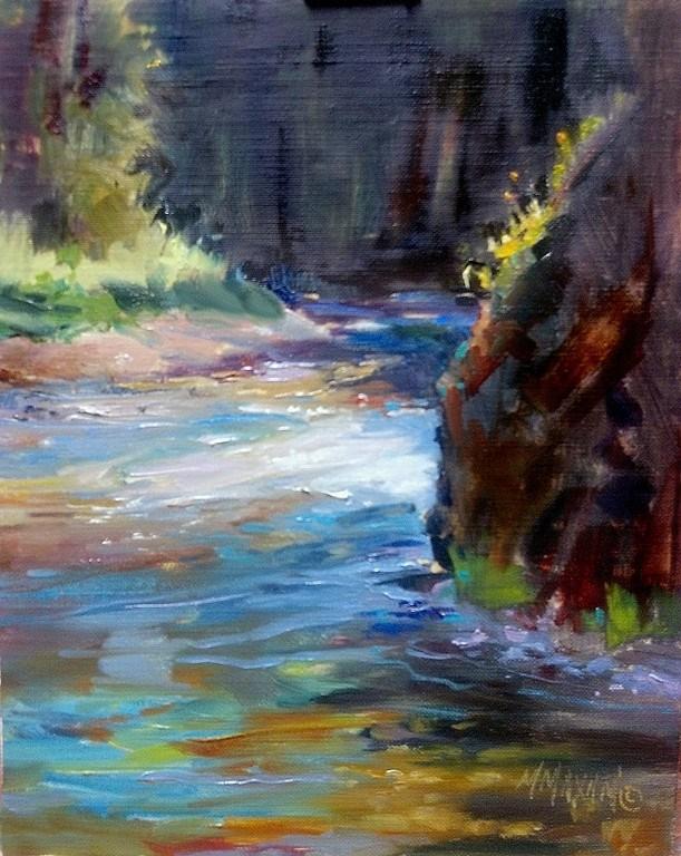 """Shadow Pool - more of the St. Joe river"" original fine art by Mary Maxam"