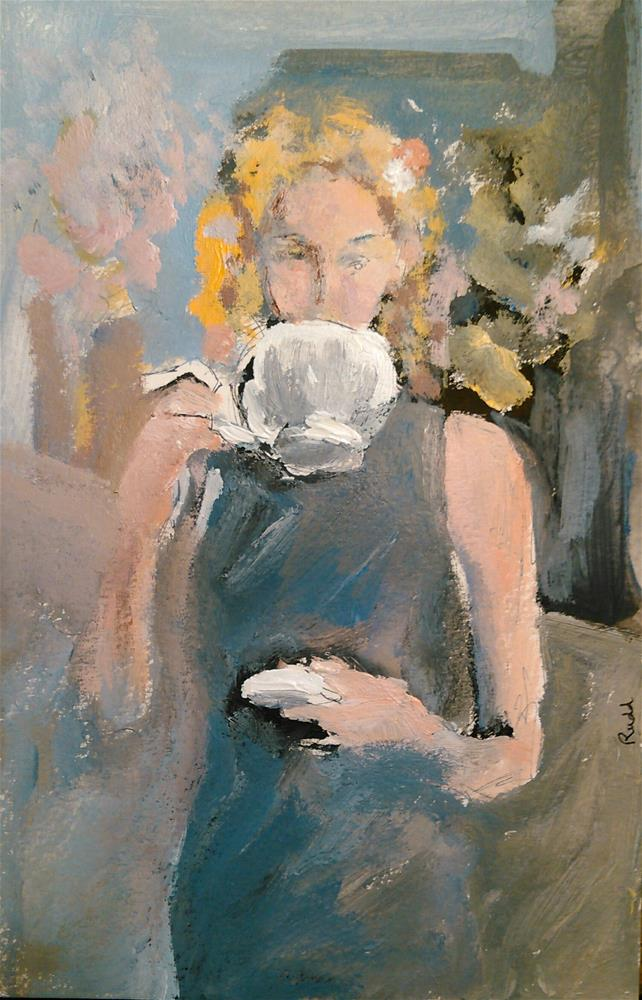 """Tea Time"" original fine art by Ann Rudd"