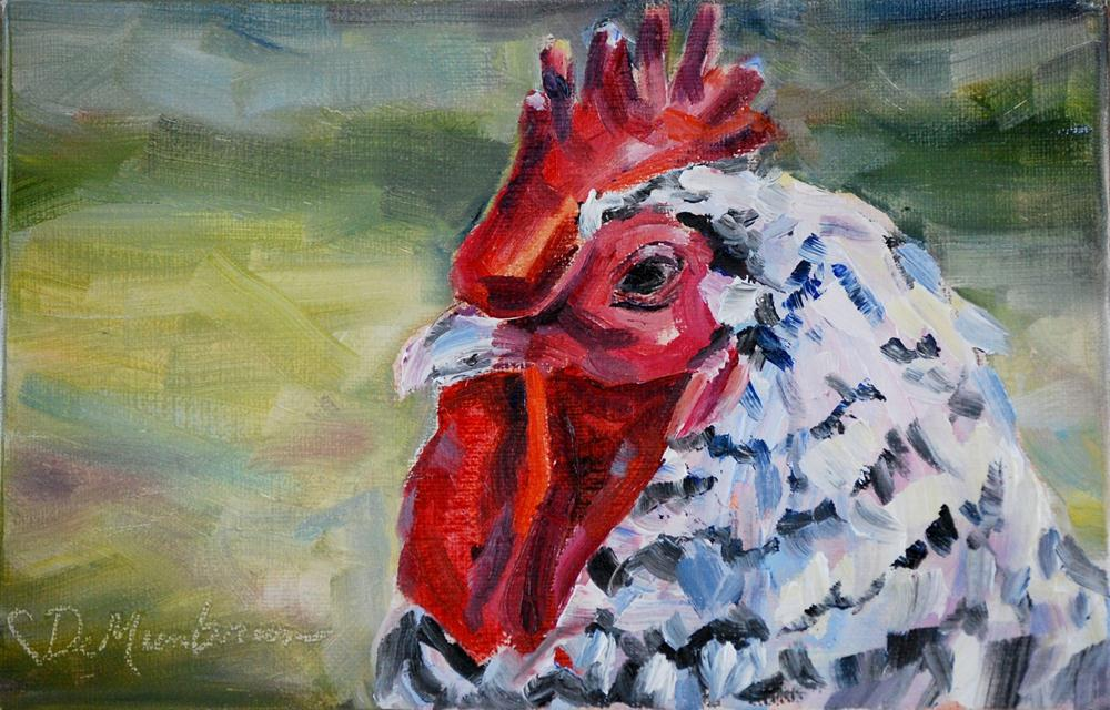 """Barnyard King"" original fine art by Carol DeMumbrum"