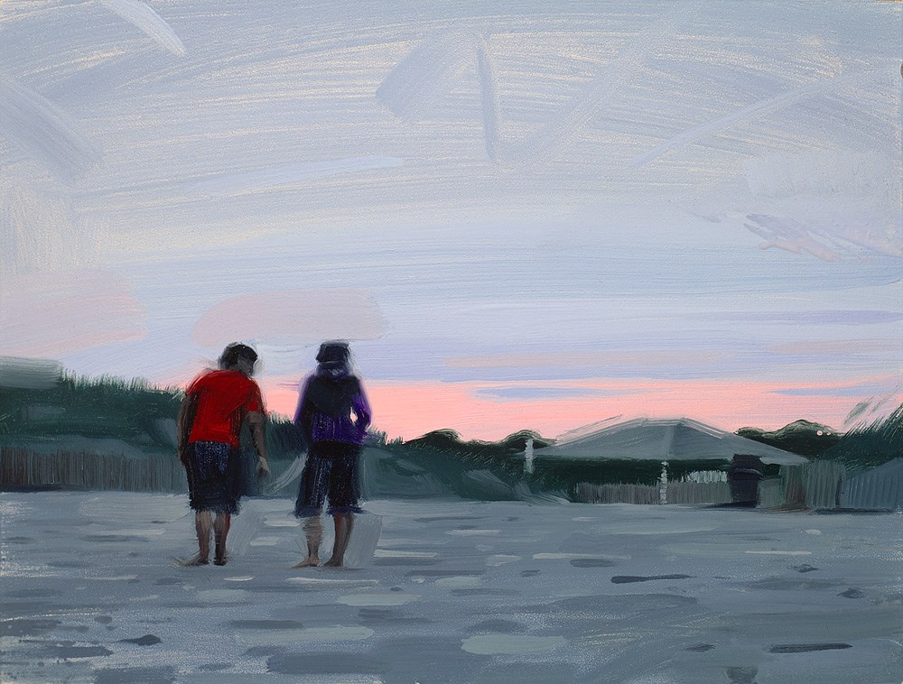 """Good Day at the Beach"" original fine art by Rob  Rey"