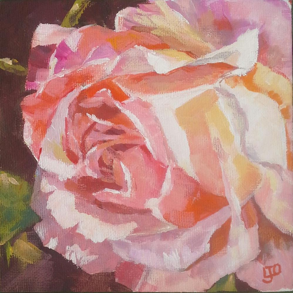 """Rose Challenge #3"" original fine art by Leanne Owen"