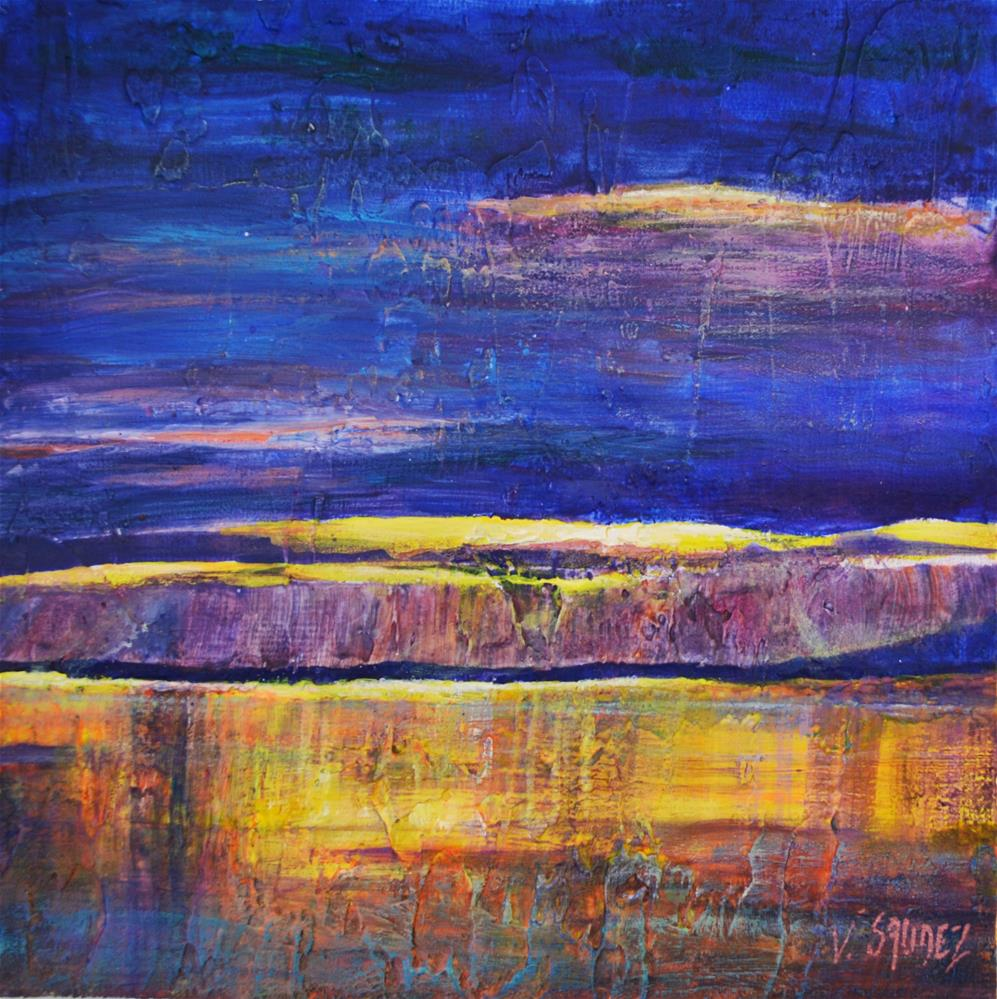 """The lake Léman"" original fine art by Véronique Saudez"