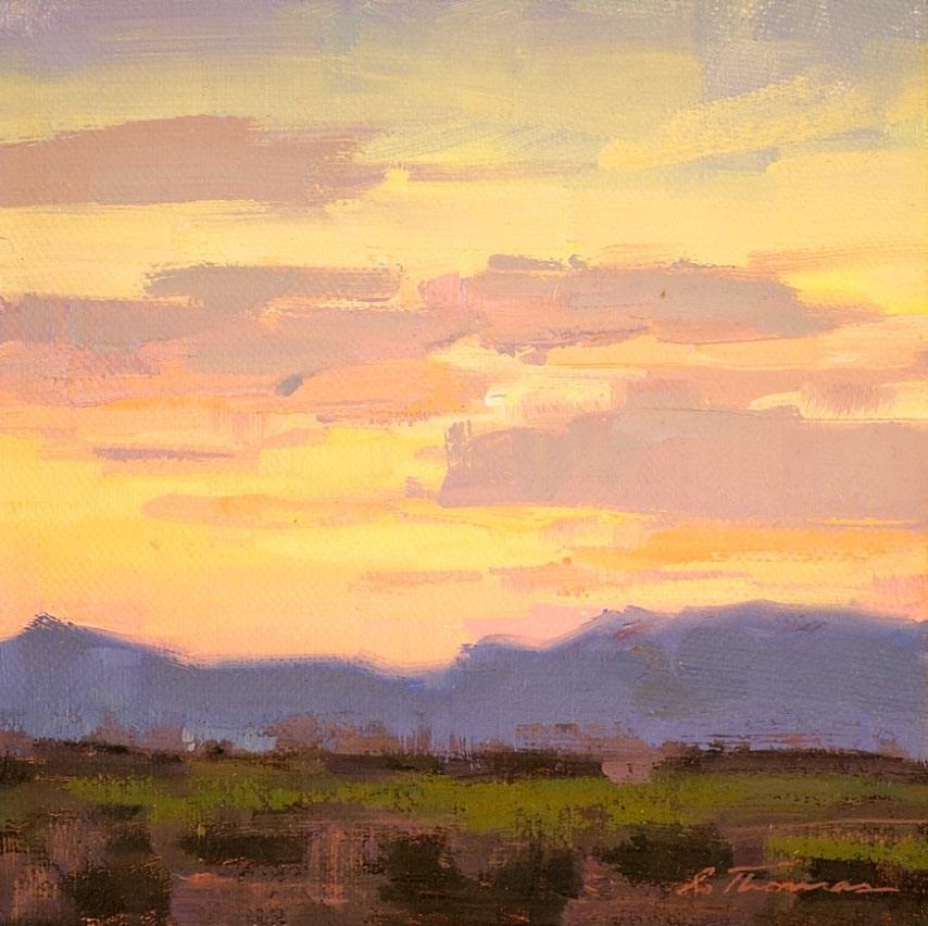 """Santa Rita Sunset"" original fine art by Charles Thomas"