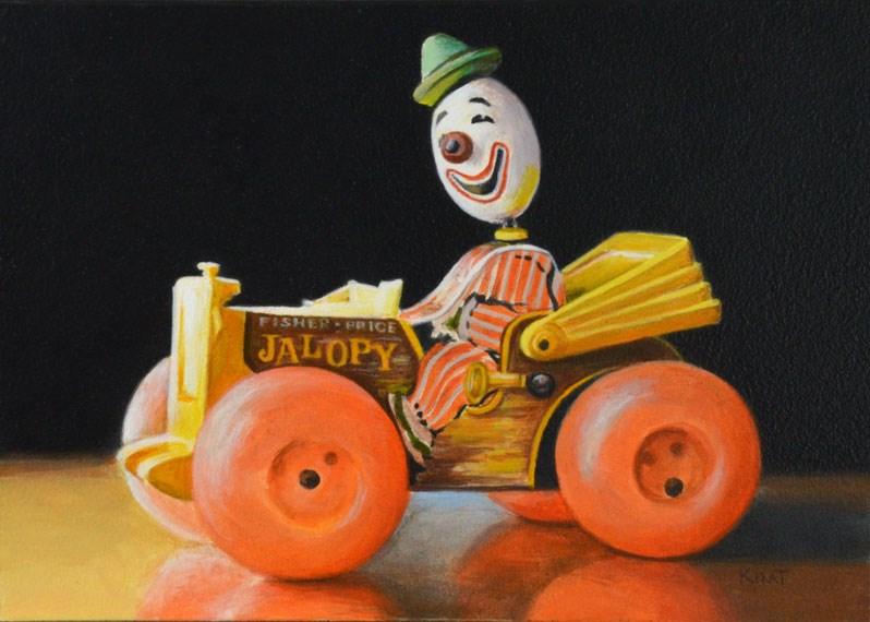 """The Old Jalopy"" original fine art by Kim Testone"