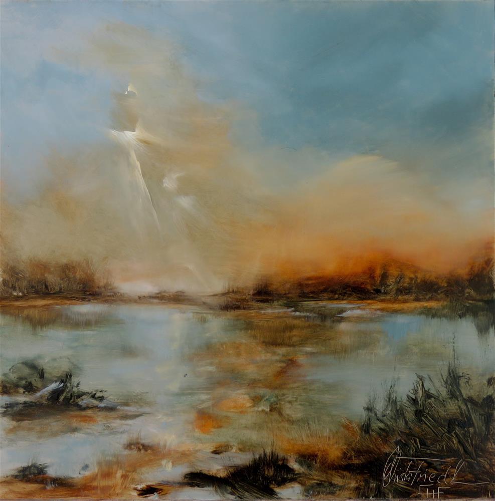 """Evening Florida Marshland"" original fine art by Christa Friedl"