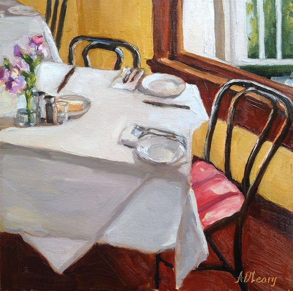 """Sunlit Lunch"" original fine art by Alice O'Leary"