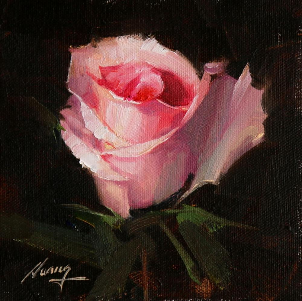 """Rose Study 2017 07"" original fine art by Qiang Huang"