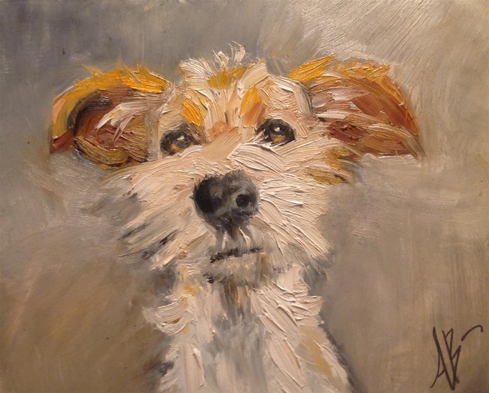 """Jack Russell Pup"" original fine art by Annette Balesteri"