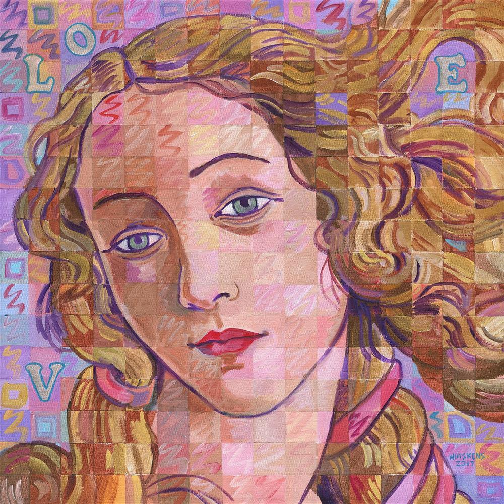 """""""Variations On Botticelli's Venus – No. 4 (Iridescence)"""" original fine art by Randal Huiskens"""