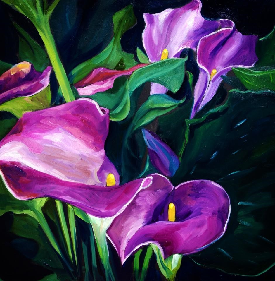 """Purple Haze"" original fine art by Lauren Kuhn"