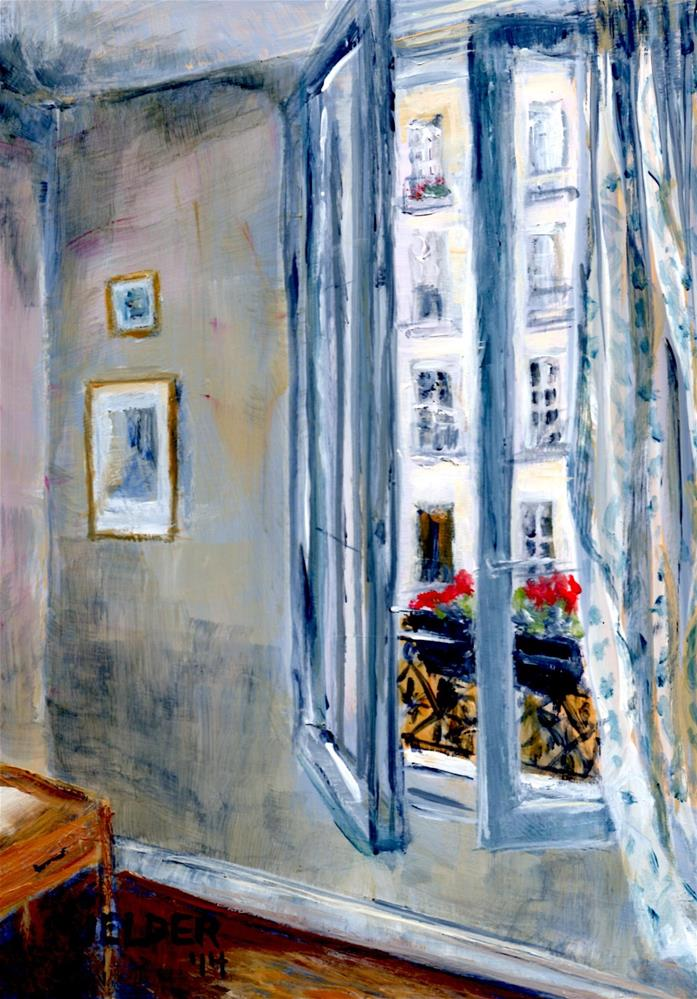 """Paris No. 65, The Apartment"" original fine art by Judith Elder"