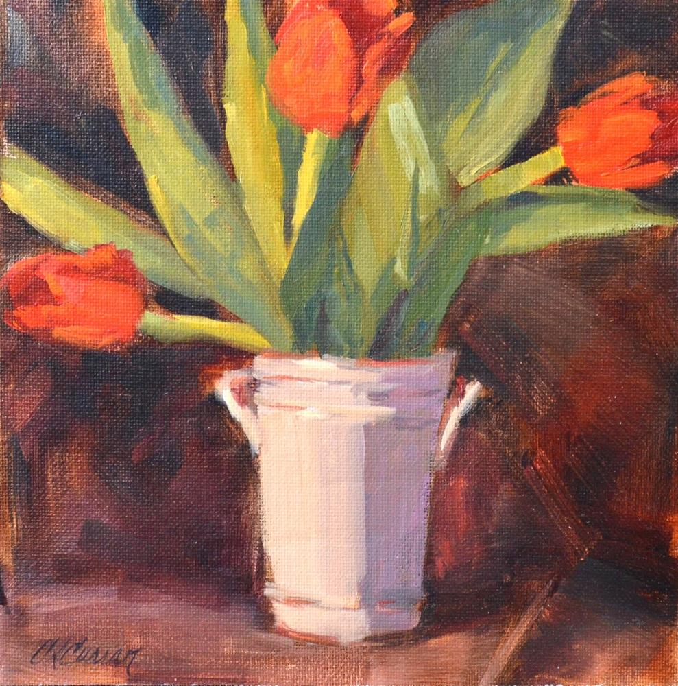 """Tulips"" original fine art by Cheryl A Curran"