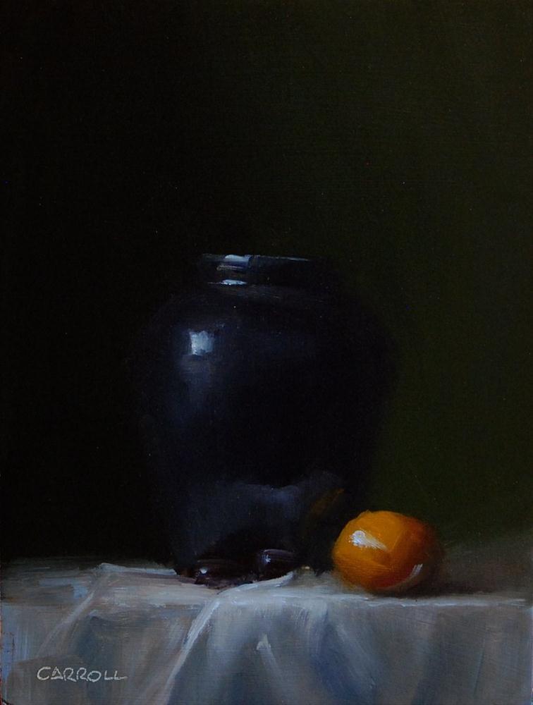 """""""Deep Blue Vase"""" original fine art by Neil Carroll"""