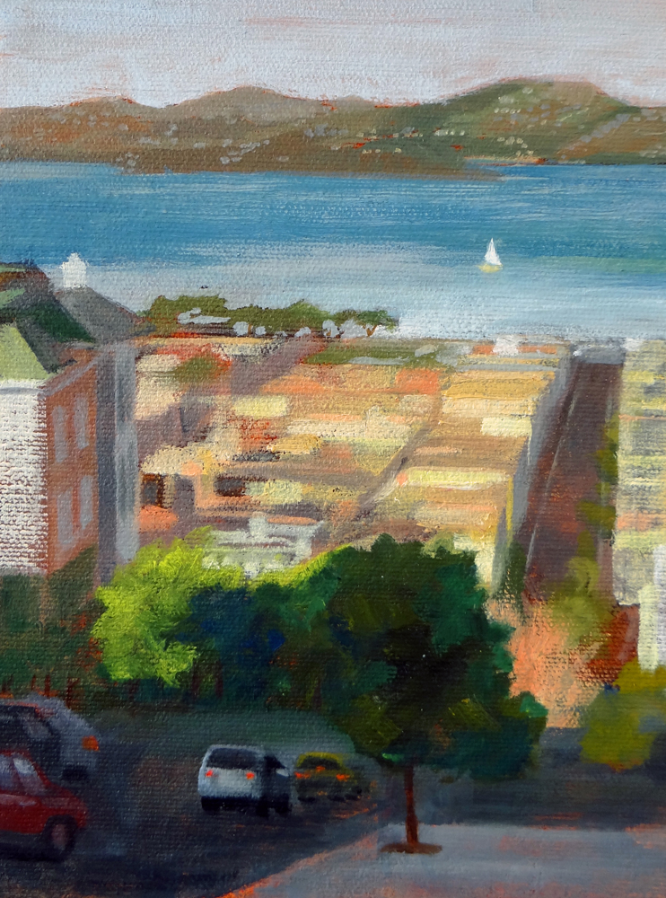 """The City by the Bay"" original fine art by Nancy Paris Pruden"