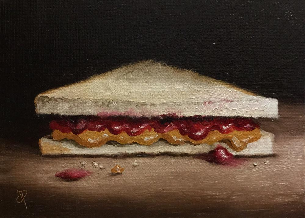 """PB&J #2"" original fine art by Jane Palmer"