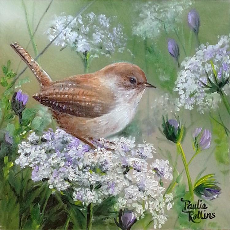 """Snow Blooms"" original fine art by Paulie Rollins"