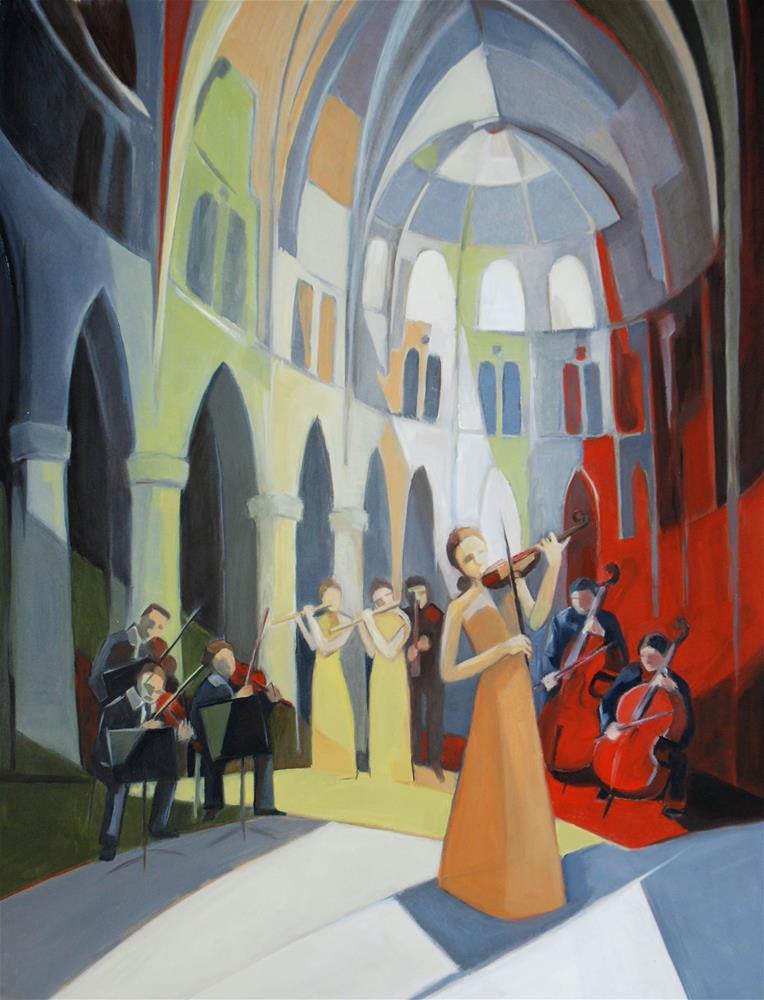"""""""Concert"""" original fine art by Olga Touboltseva-Lefort"""