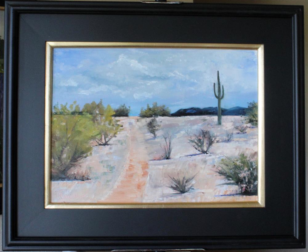 """Desert Track"" original fine art by Tamsen Armstrong"